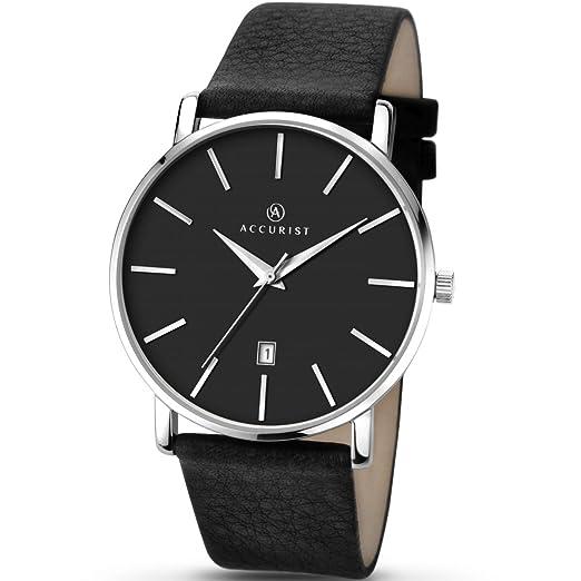 Armbanduhren Armband- & Taschenuhren Accurist Mens Analogue Classic Quartz Watch With Leather Strap 7100.01