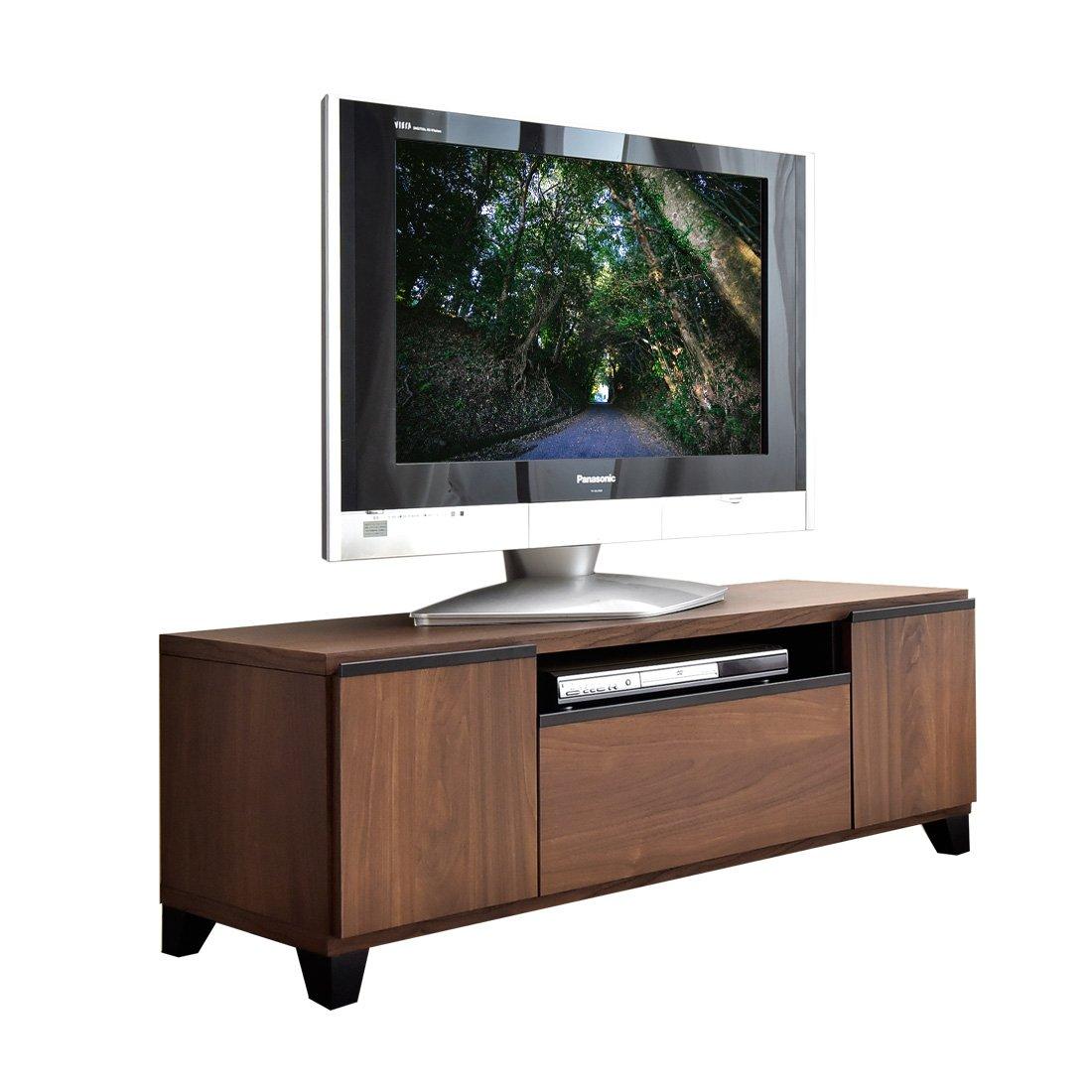 タンスのゲン 国産 完成品 テレビボード 幅120cm ウォールナット ブラウン 24900004 01 B01MQCFA4I Parent  幅120cm