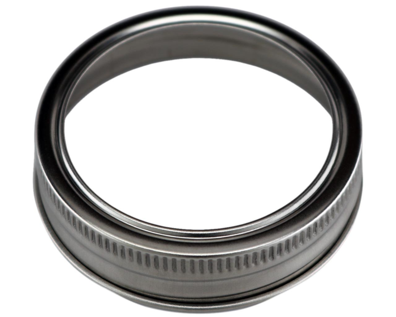 Stainless Steel Rust Resistant Bands / Rings for Mason, Ball, Canning Jars (5 Pack, Regular Mouth) by Mason Jar Lifestyle