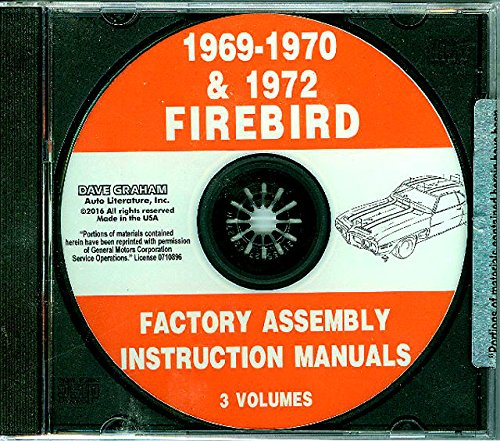 1969 1970 1972 PONTIAC FIREBIRD FACTORY PARTS ASSEMBLY INSTRUCTION MANUAL For Base, Sprint and Trans Am