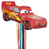 Unique Party 65981 Disney Cars Lightning McQueen Pinata avec cordon