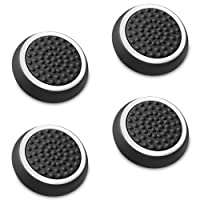 Fosmon Silicone Thumb Stick Analog Controller Grip Caps (4 Pack / 2 Pair) for Xbox One/One X, 1 S, 360, PS4, PS3, Wii U, Wii (Black/White)