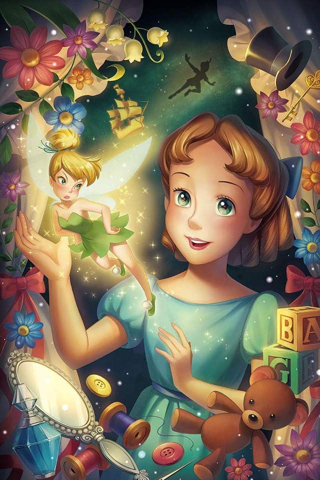 ディズニー 光の軌跡(ティンカー・ベル&ウェンディ)  iPhone(640×960)壁紙画像
