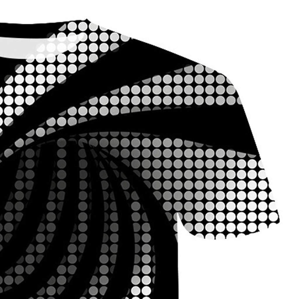 MOTOCO Hombre Talla Grande Camiseta de Manga Corta Top Impresi/óN En 3D Personalidad uelto Camisetas