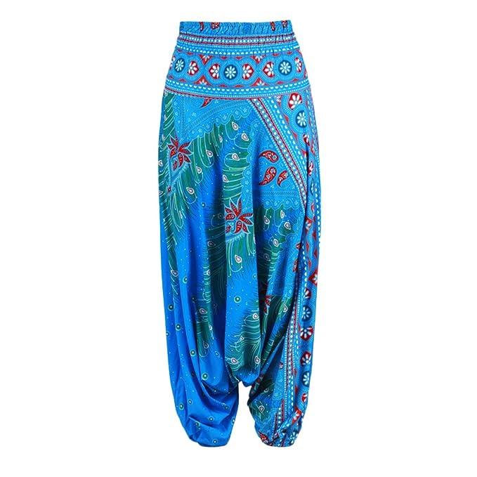 8431dffae1a2 Zhuhaitf Pantaloni da Harem Yoga classici da donna Pantaloni casual  Elastico in vita Pantaloni larghi da gambe Adatti per Yoga Danza del Ventre  Fitness Gli ...
