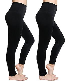 ed477445ddb08 CakCton Womens Fleece Lined Leggings High Waist Buttery Soft Stretchy Warm  Best Leggings