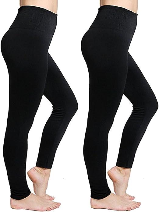 Amazon.com: Calzas Cakcton para mujer, con forro polar, para ...
