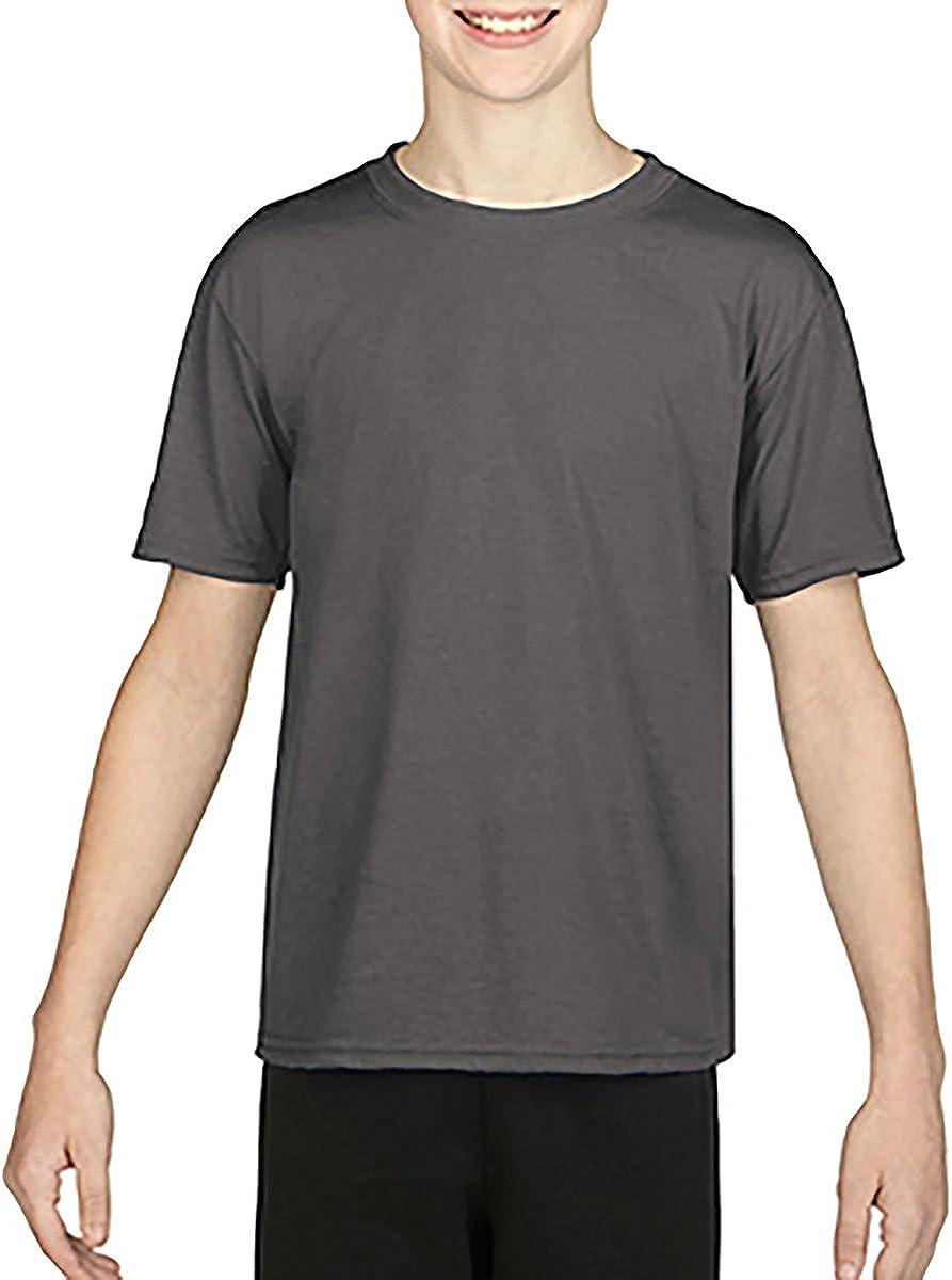 Style # G460B - Original Label Gildan Youth Performance 47 oz Core T-Shirt WHITE XS -