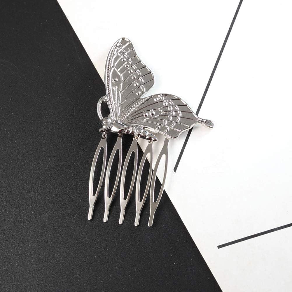 Yazilind Simple Design /Él/égant Inserts Pince /À Cheveux Queue De Cheval Accessoires De Peigne Papillon Forme pour Femme Dames Barrette Headpiece