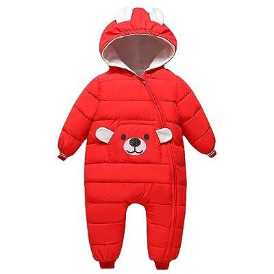 Baby Girls Boys One Piece Zipper Down Jacket Winter Romper Jumpsuit Romper