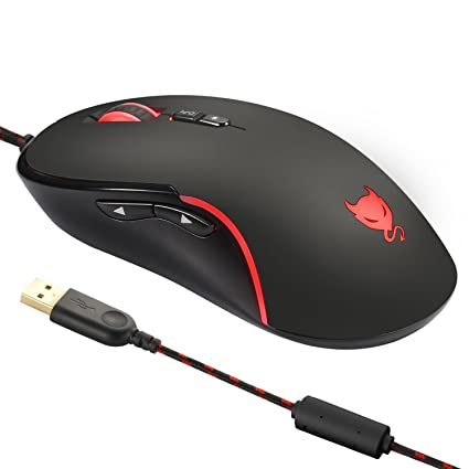 Amazon buy redimp rgb gaming mouse wired ergonomic 4000 dpi with redimp rgb gaming mouse wired ergonomic 4000 dpi with 7 programmable buttons for laptop pc mac fandeluxe Choice Image