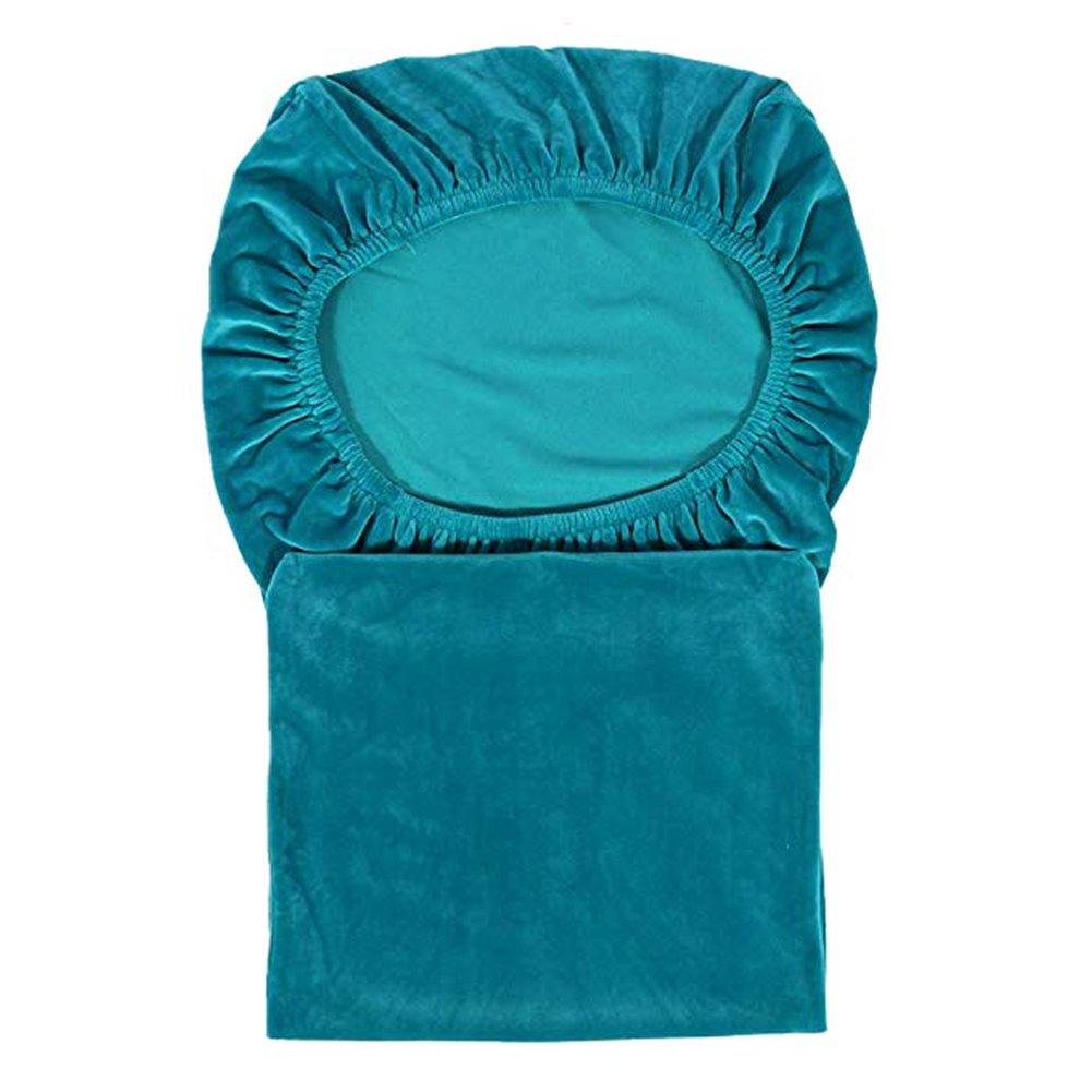 Argento-Grigio smiry Velvet Stretch coprisedia per Sala da Pranzo 2 Stck//Pack Velluto Morbido e Lavabile