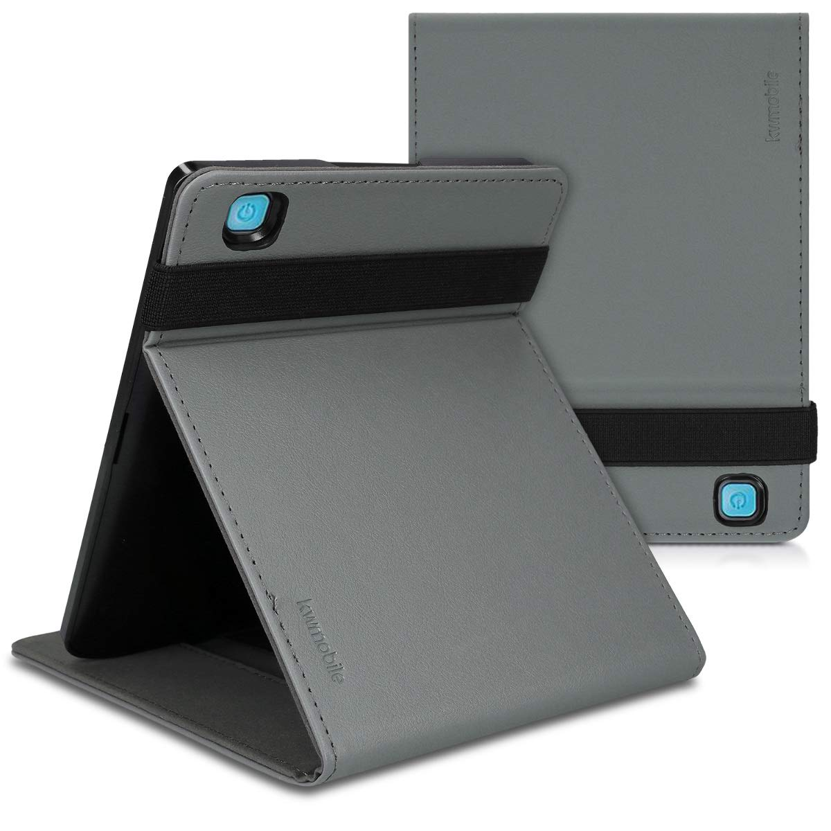 kwmobile Funda Compatible con Kobo Aura Edition 2 Case Textil Carcasa de Tela para e-Reader