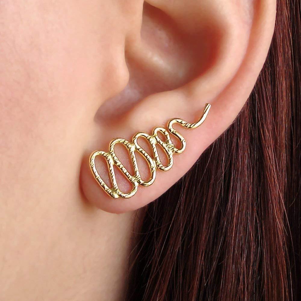 Aretes de oro rosa oreja brazalete regalo, serpiente puños ...
