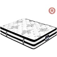 Mattress, Giselle Bedding Queen 34cm Euro Top Mattress with Pocket Springs and Foam, 5-Zone Ergonomic Bed Mattress