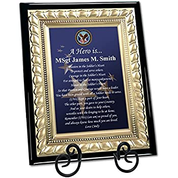 Amazon.com: Personalized Military Gift Plaque Going Away