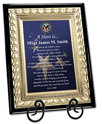 Personalized Military Gift Plaque Going Away Retirement Homecoming Poem Plaque Marine Corps Air Force US Navy USMC USAF USN Soldier Service Award Frame - Personalized Plaque Poem