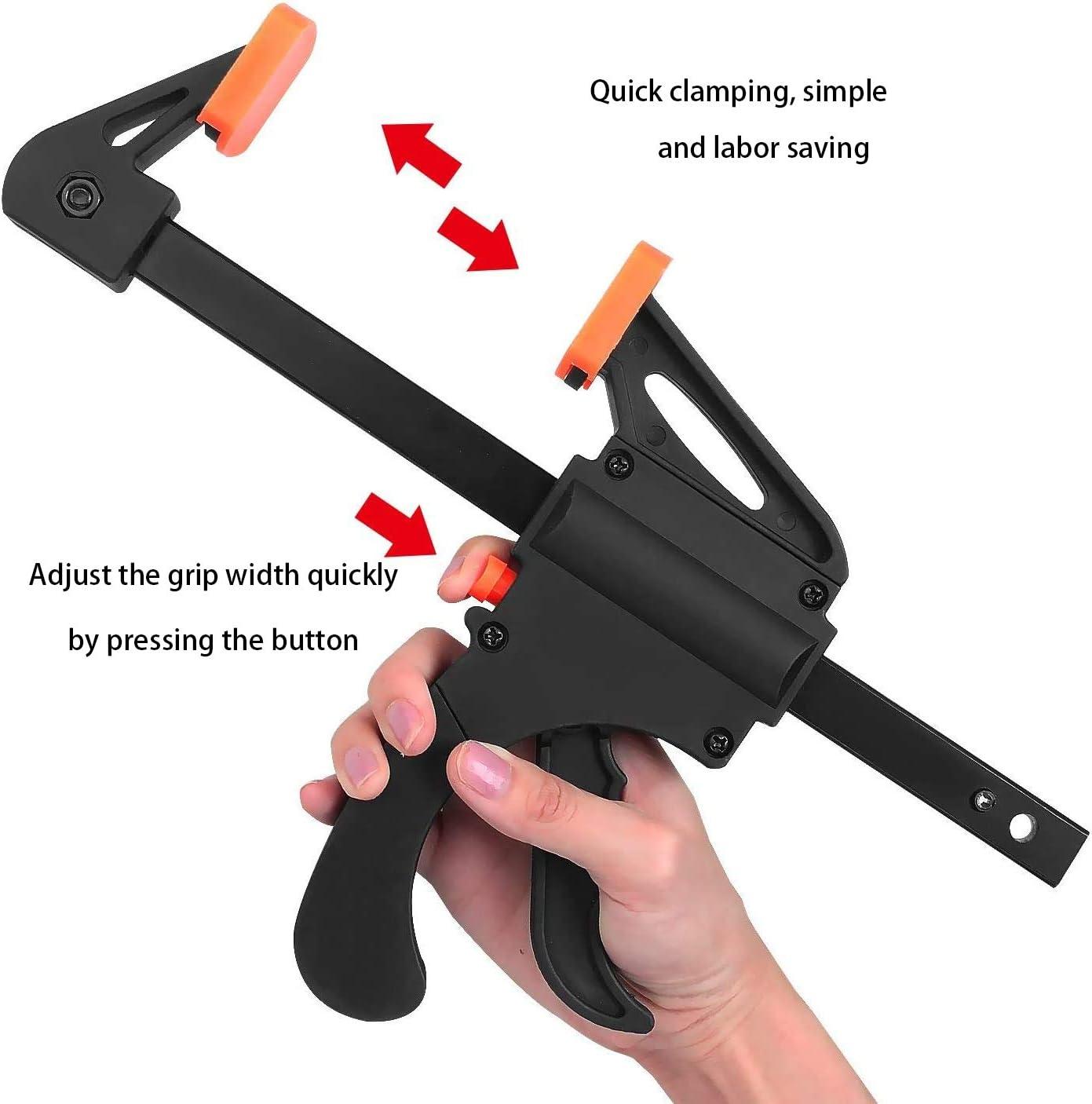 Lavoro Manuale 8 Pezzi Morsetto da Falegname una Mano a Mano Fai Ecc 4 inch Clip di Legno Falegname Strumento Grip Quick Release a Cricchetto per Lavorazione del Legno
