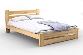 Nodax Lit en pin massif Meubles de chambre à coucher lit king size 1 ...