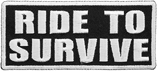 Ride to Survive Logo Biker Motorcycles Embroidered Iron on Patch Free Postage