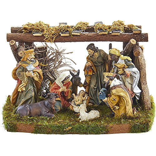 Kurt S. Adler Nativity Set with 9 Figures and Stable