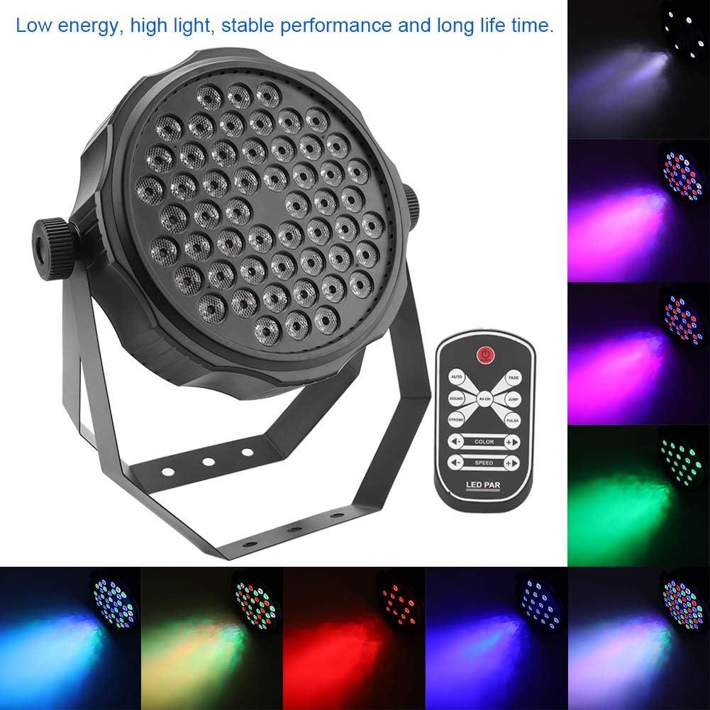 54 STK 4 farbige Disco B/ühnenlicht Auto Voice Steuermodus B/ühnenbeleuchtung f/ür Party Bar und Geburtsta DMX Zoternen LED Effektstrahler