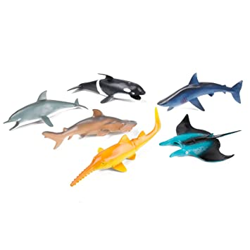 12Pcs PVC Material Ocean Animal Minature Bath Toys TOYMYTOY Sea Creatures Tropical Fish Figure Model Baby Products