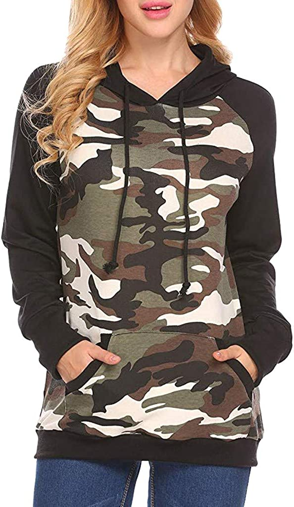 X-Future Womens Basic Stand Collar Drawstring Pockets Pullover Sweatshirt