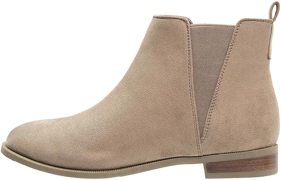 Unie BeigeCognac Casual Pour Ou Chelsea En Couleur Anna Femme Field Boots Plates Élégantes Bottines Chaussures Noir kOZPiTXu