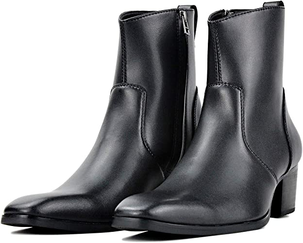 Men Chelsea Ankle Boots Leather Western