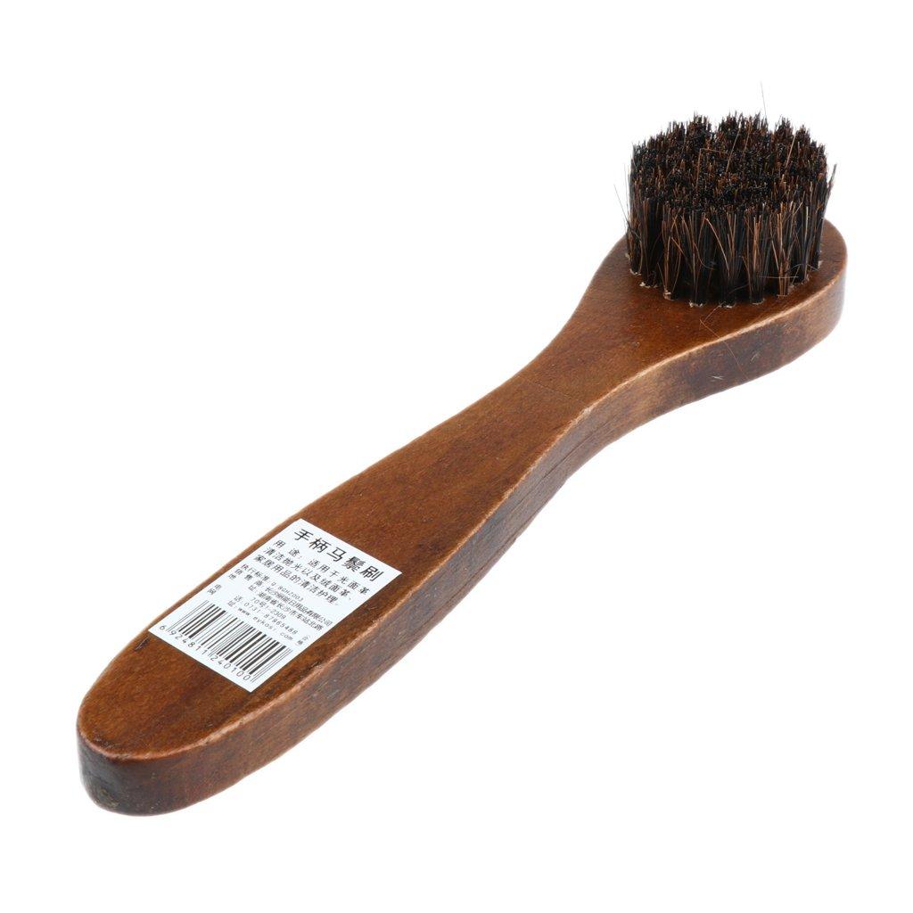 Sharplace Cepillo de Limpieza de Zapatos Pelo de Caballo Cabezal ...