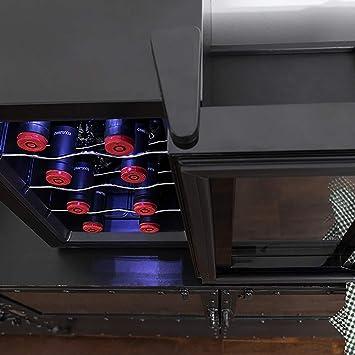 Cecotec Vinoteca de 8 Botellas con Capacidad de 25L. Diseño Puerta FullCrystal, Acabado de Espejo,Estante en Acero Inoxidable. Panel táctil y Pantalla LED.Evita Vibraciones (8 Botellas): Amazon.es: Hogar