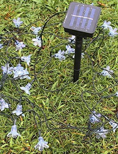 IAIZI Feenhafte Solarschnur beleuchtet, LED-Solarschnur-Licht, 22m, Pfirsich-Blumen-Schnur-feenhaftes Licht, im Freiengarten-Weihnachtsfest-Dekoration Solarleuchten ZGHE