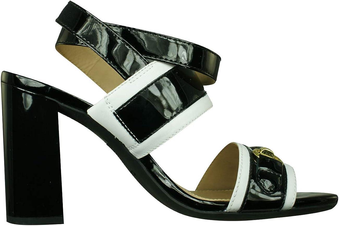 Geox D Audalies High, Sandali con Cinturino alla Caviglia Donna