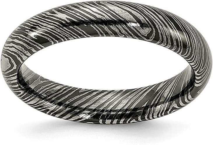 Edward Mirell Timoku 4mm Domed Ridged Edge Band