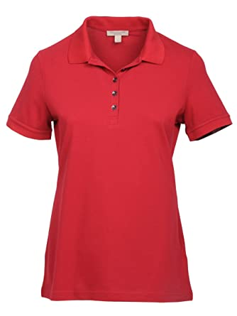 fc7727424 Image Unavailable. Image not available for. Color: BURBERRY Women's 4557694  Red Cotton Polo Shirt