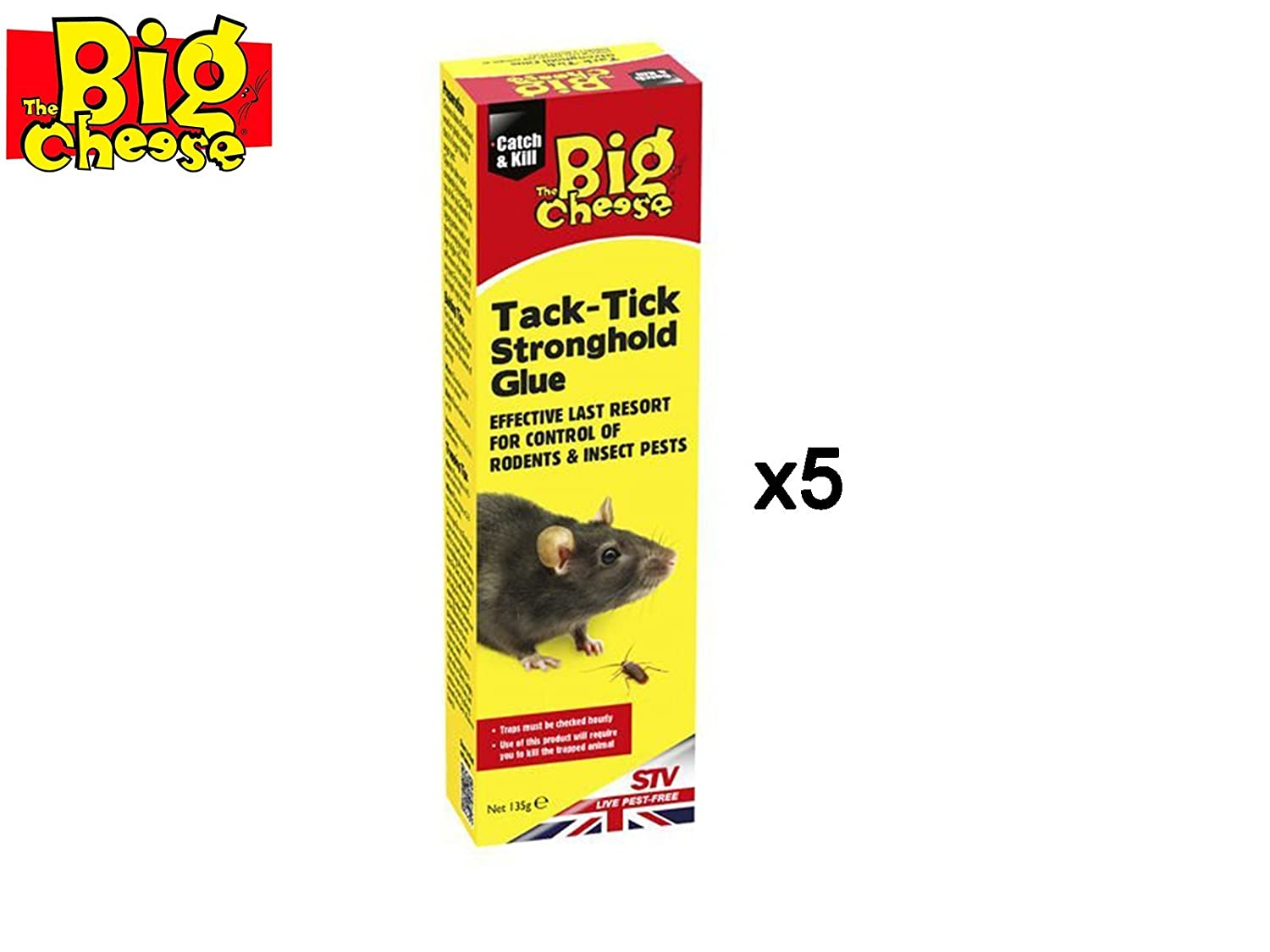Mouse Rats Insect Pests The Big Cheese Tack-Tick Stronghold Traps Rodents