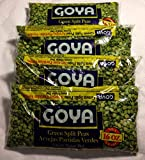 Goya Beans Green Split Peas, Dry, 4 - 1 Lb Bags (4 Pack) Dried - Great for Split Pea Soup
