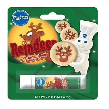 Pillsbury Cookie Dough Reindeer Lip Balm Chapstick Xmas Sugar Cookie