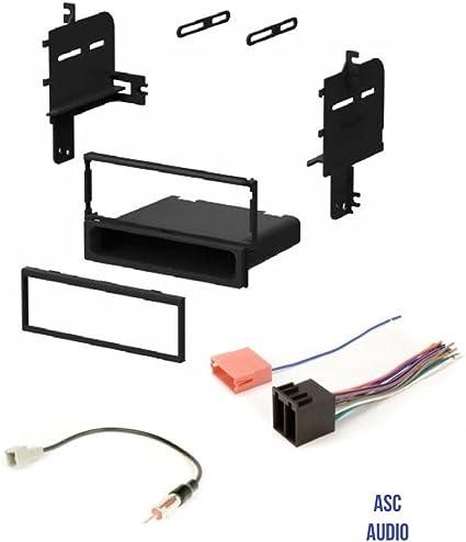 Single DIN Radio Stereo Dash Kit Harness for 2010-2011 Hyundai Accent Kia Rio