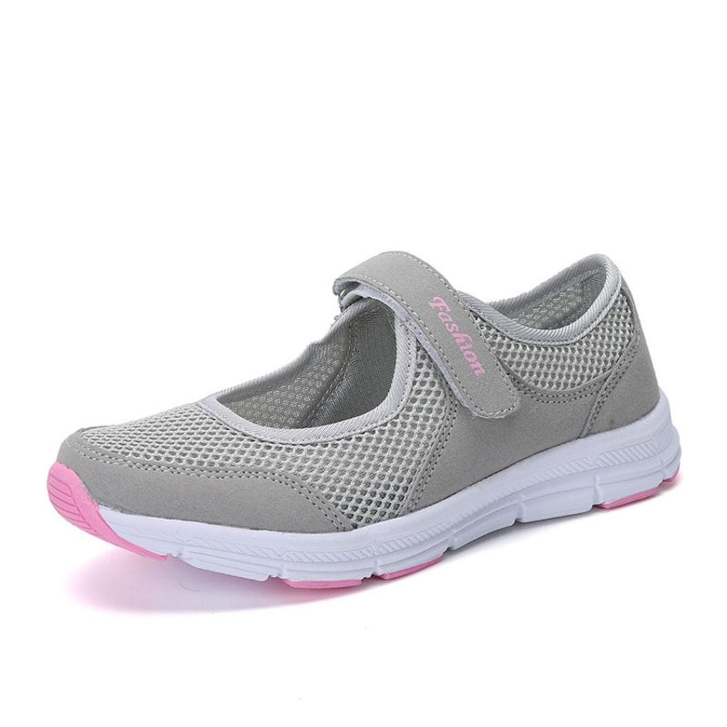 IEason-shoes Fashion Women Shoes Summer Sandals Anti Slip Fitness Running Sports Shoes (7, Gray)