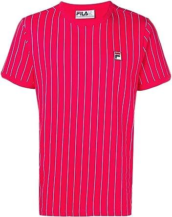 Fila Hombre Camiseta Guilo Raya, Rojo: Amazon.es: Ropa y accesorios