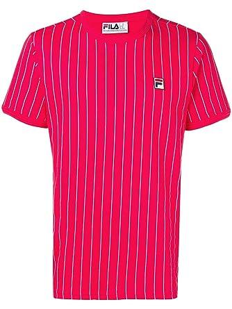 c5e27b3f44463 Fila Homme Guilo T-Shirt à Rayures, Rouge: Amazon.fr: Vêtements et ...