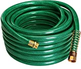 Garden Hose 4-Ply - 50ft - Garden Hose Quick Connect - No Kink Garden Hose - Crimp Free Garden Hose - By Utopia Home (Large - 50ft.)