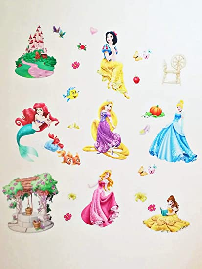 Adesivi Murali Principesse Disney.Kibi Adesivi Da Parete Principesse Disney Cameretta Adesivo Da Parete Principessa Adesivi Murali Principesse Adesivi Muro Camera Da Letto Bambini