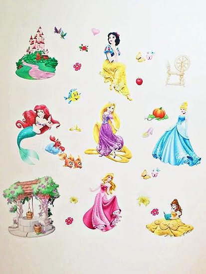 Adesivi Murali Per Bambini Disney.Kibi Adesivi Da Parete Principesse Disney Cameretta Adesivo Da