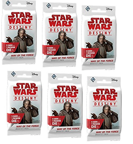 BUNDLE: Star Wars Destiny: Way of the Force Booster Packs (6 Booster Pack Lot)