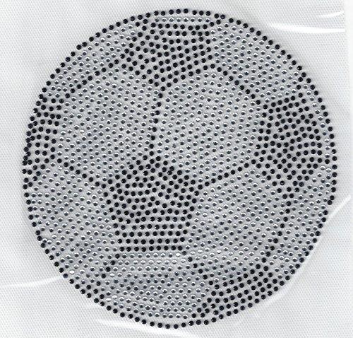 Soccer Rhinestone Ball Heat Transfer Hot Fix Heat Press Hotfix Iron On MOTIF DYI