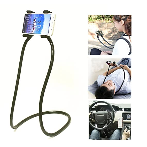 Cell Phone Holder Xsmner Universal Mobile Phone Stand Lazy Bracket Diy Free Rotating Mounts Can Hanging Neck