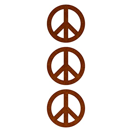 LiteMark Reflective Brown 2 Inch Peace Symbol Decals - Pack